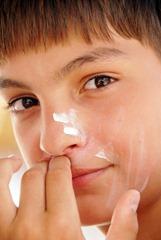Teenage boy sun protection